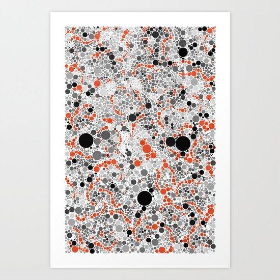 Volcano Dots Art Print
