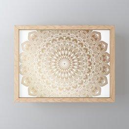 Gold Mandala 20 Framed Mini Art Print