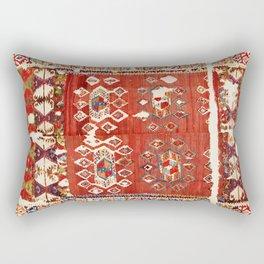 Hotamis  Antique Turkish Karapinar  Kilim Rectangular Pillow