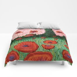 Fields of Red Comforters