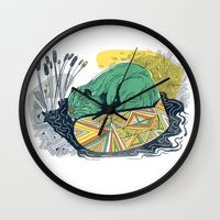 beaver Wall Clocks featuring The Beaver by Dushan Milic