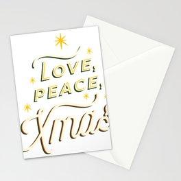 Love Peace Xmas Stationery Cards