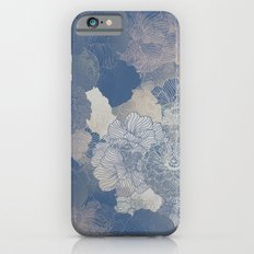 Airforce Blue Floral Hues  Slim Case iPhone 6s