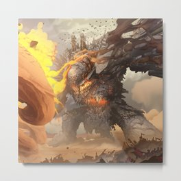 Demon of War Metal Print
