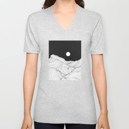 Lines in the mountains II Unisex V-Neck