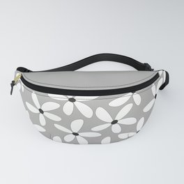 Happy flowers Gray Fanny Pack