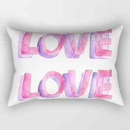 valentine card with love text Rectangular Pillow