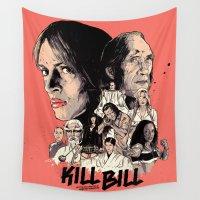 bill Wall Tapestries featuring Kill Bill by RJ Artworks