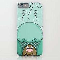 Cute Monster With Cyan Frosted Cupcakes Slim Case iPhone 6s