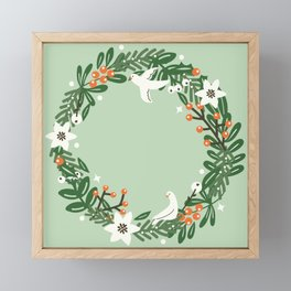 Christmas Wreath Framed Mini Art Print