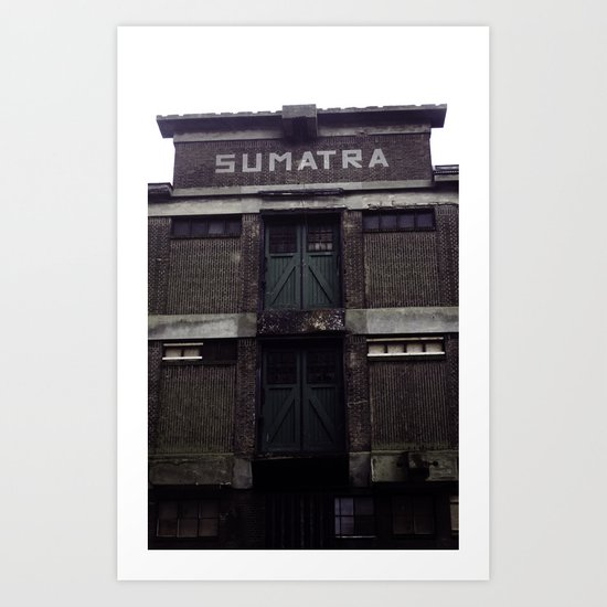 Old Storage Sumatra in Rotterdam Art Print