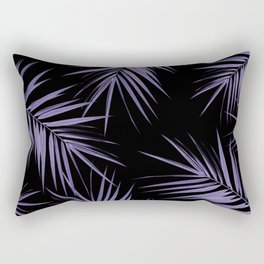 Palm Leaves Cali Finesse #5 #UltraViolet #Black #tropical #decor #art #society6 Rectangular Pillow