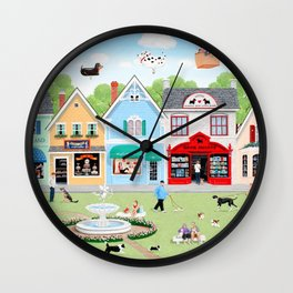 Dog Lovers Lane Wall Clock