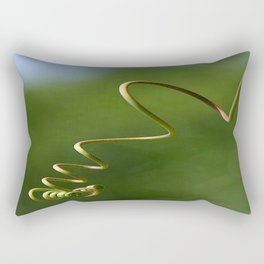 Spring Shaped Passion Flower Tendril  Rectangular Pillow