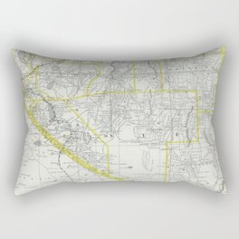 Vintage Map of Nevada (1889) Rectangular Pillow
