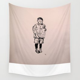 1900's paper boy Wall Tapestry