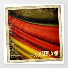 STICKER OF GERMANY flag Canvas Print