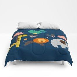 Jungle Run Blue Comforters