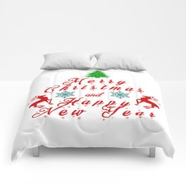 Merry Christmas and Hapy New Year Comforters