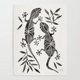 Geckos – Black Palette Poster