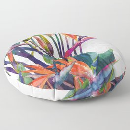 The bird of paradise Floor Pillow