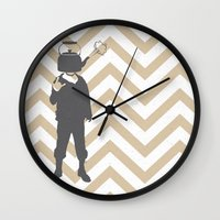 steam punk Wall Clocks featuring Steam Punk by Jade Deluxe