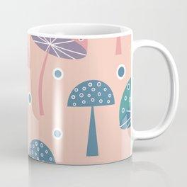 Dancing mushrooms in pink Coffee Mug