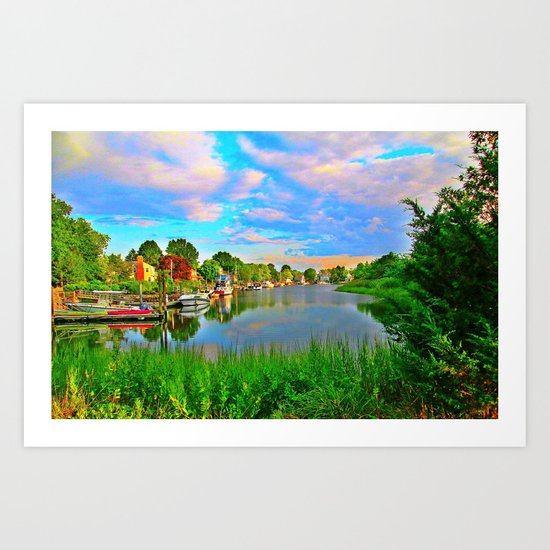 Lagoon Sunset Art Print