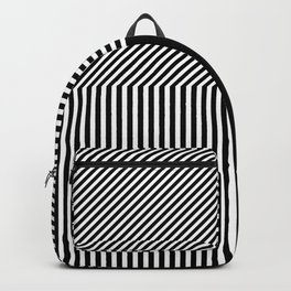 Geometric abstraction, black and white Backpack