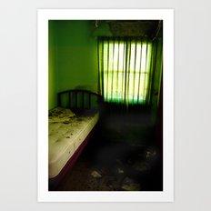 Abandoned Green Nunnery Room Art Print