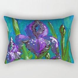 Iris by Mary Bottom Rectangular Pillow