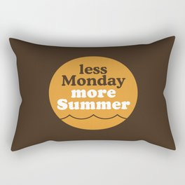 Less Monday More Summer Rectangular Pillow