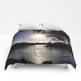 Sunrise on the River Glint! Comforters