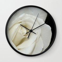 Beautiful white rose Wall Clock