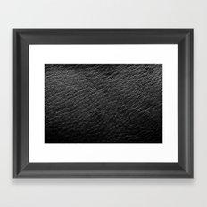 Leather Texture (Black) Framed Art Print