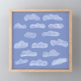 Fluffy Clouds Framed Mini Art Print