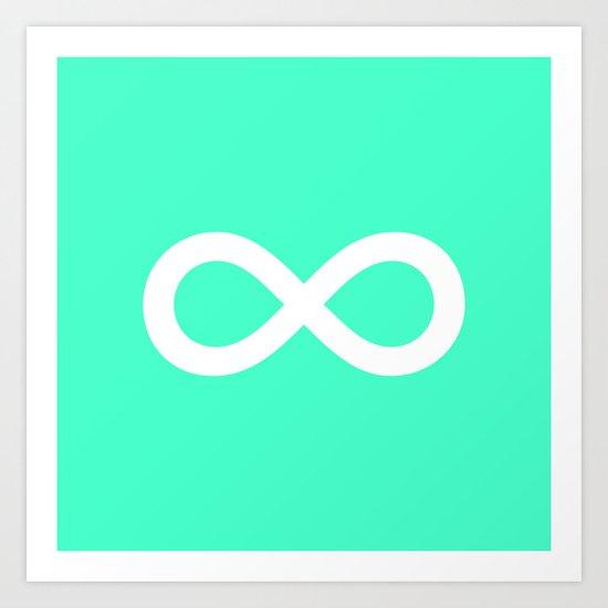 Mint Infinity Art Print