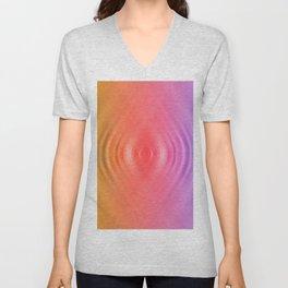 rainbow ripples of life Unisex V-Neck