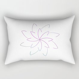 Ombre Lotus Outline Rectangular Pillow