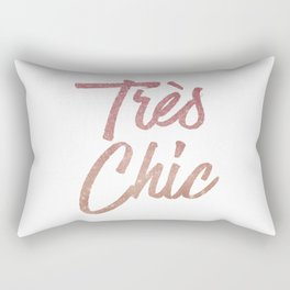 Tres Chic Rose Gold Glitter Ombre French Quote Rectangular Pillow