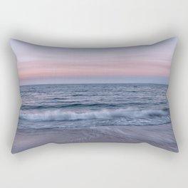 Pastel beach sunset Rectangular Pillow