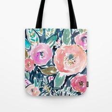 Gardens of Capitola Watercolor Floral Tote Bag