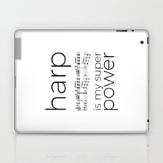 Harp is my super power (3) (white) Laptop & iPad Skin