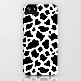 Black and White Giraffe Fur Animal Print iPhone Case