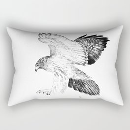 Red Tailed Hawk Rectangular Pillow