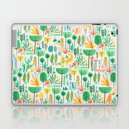 Jungle life with golden unicorn Laptop & iPad Skin