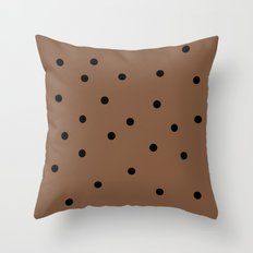 Chocolate Chocolate Chip Throw Pillow