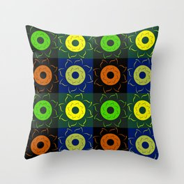 Floral squares Throw Pillow