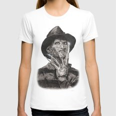 freddy krueger White SMALL Womens Fitted Tee