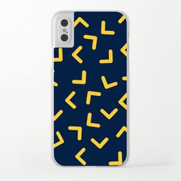Boomerangs / V pattern Clear iPhone Case